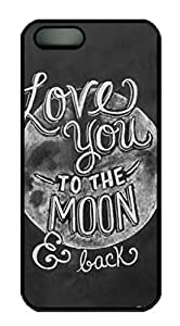 iCustomonline iPhone 5 5s I Love You to the Moon and Back Custom Personalized Plastic Hard Back Case Cover for iPhone 5 5s
