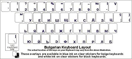 Overlays with White Characters for Black Computer Keyboard Belarusian Keyboard Stickers Labels