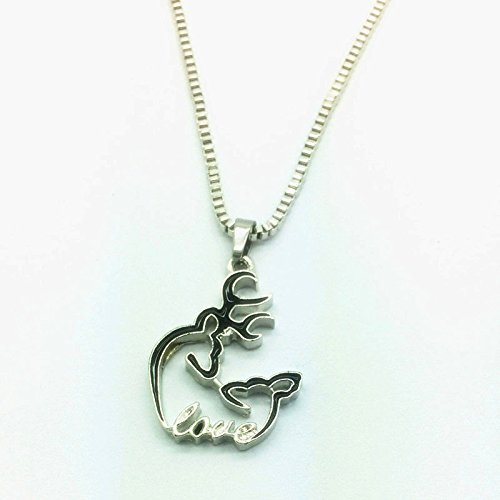 NEW Browning Deer with LOVE 42cm 1PCS black Pendants Chai...
