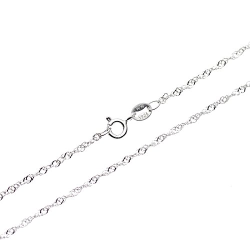 Sterling Silver 1mm Singapore Chain - 1