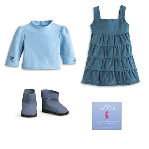 American Girl My AG Everyday Play Jumper + Charm for Dolls (Doll American Girl Jumper)