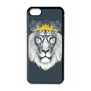 DIY Phone Case for Iphone 5C, Hipster Lion Cover Case - HL-R688929
