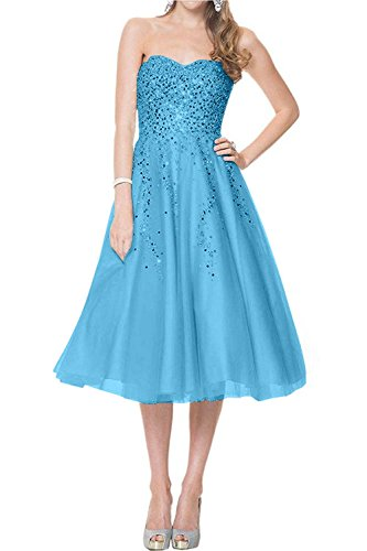 Wadenlang Ballkleider mia La Abendkleider Partykleider Neu Braut Tanzenkleider Lang A Blau Kurzes Festlichkleider Linie 2018 wxExUdXnr