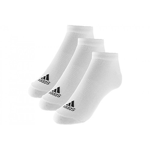 Adidas 3 Pack Invisible Calcetines Deportes al aire libre llevar negro, White, US7.5