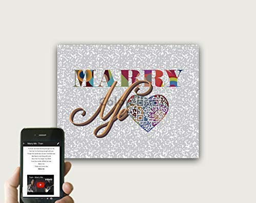 Marry Me By Train Inspired QR Music Art, Personalized Birthday Gift for Him, Unique First Anniversary Gift For Husband or Wife, First Dance Song Lyrics Wall Art, Print Only - Train Anniversary