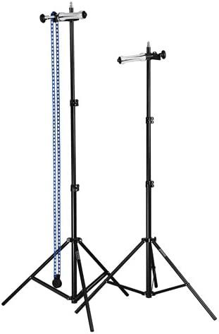 Fotodiox Single Roller Paper Drive Background Backdrop Support System KIT with 2x 86 Light Stands