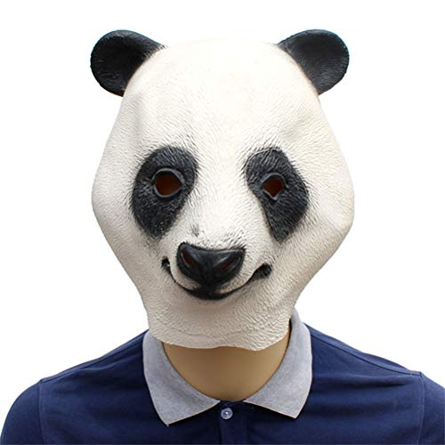 YLJYJ Panda Mask,Deluxe Novelty Halloween Costume Party Latex Animal Head Mask for Kids Adults Fancy Dresses Masquerade Party Cosplay