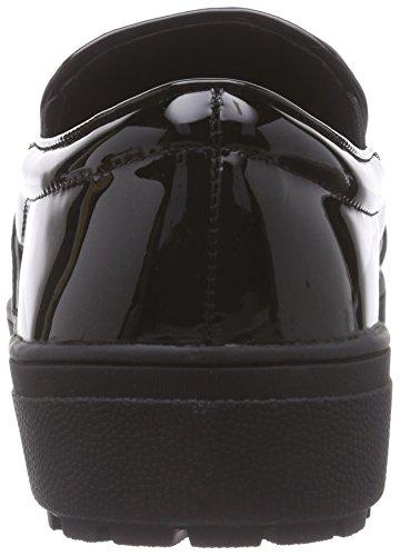 The Ballet Black Strada Woman Black Flats Kroko look Halbschuh Croco Schwarzer 1501 snake qrrwTnxp