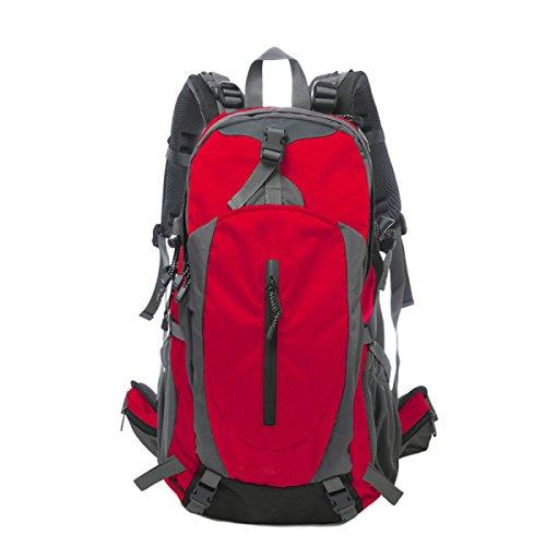 TUOZA Para Hombre Del Alpinismo Al Aire Libre Mochila De Viaje Duradero,Blue-OneSize Red