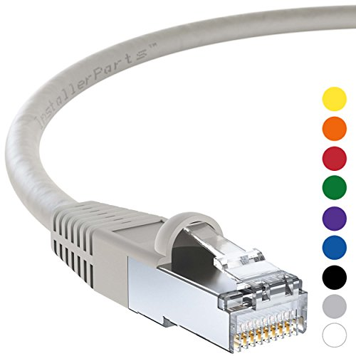 InstallerParts Ethernet Cable CAT5E Cable Shielded (FTP) Booted 100 FT - Gray - Professional Series - 1Gigabit/Sec Network/Internet Cable, 350MHZ by InstallerParts