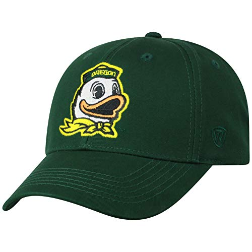 NCAA Oregon Ducks Men's Fitted Relaxed Fit Team Icon Hat, Dark Green