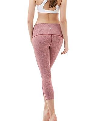 "Tesla Women's Yoga 21""Capri High-Waist Tummy Control Pants w Pocket FYP32"