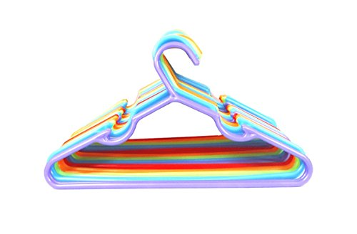 "30pc Children Plastic Hanger Assorted Colors, 11"" Wide"