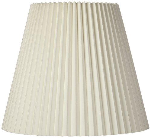 Pleated Lamp Shades - Ivory Pleated Shade 10x17x14.75 (Spider)