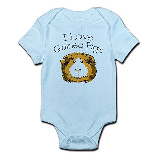 CafePress - I Love Guinea Pigs Infant Creeper - Cute Infant Bodysuit Baby Romper