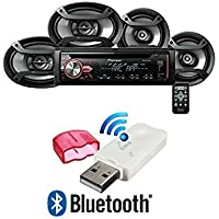 Pioneer DXT-X2969UI Car stereo with multicolour illumination RDS tuner, CD, USB and Aux-in, Two 6.5 Speakers & Two 6 x 9 Speakers W/USB Bluetooth Music Streaming Wireless Receiver