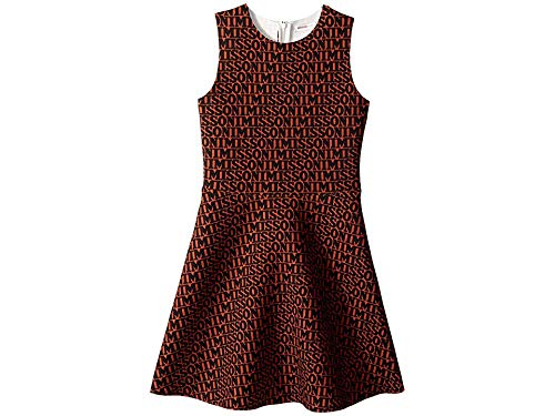 Missoni Kids Girl's Printed Neoprene Logo Dress (Big Kids) Brown/Black 8