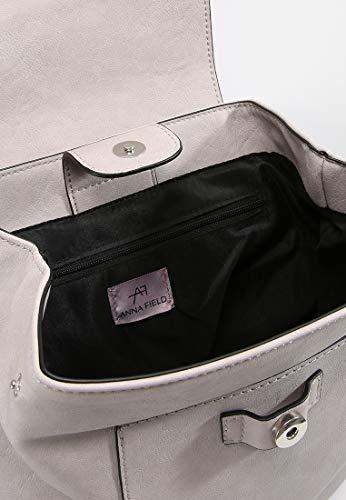 Satchel Rucksack Handbag amp; College Spring Work PU Anna Shoulder Uni Ladies Light Daypack Use Fashion Backpack for Bag Daily Leather Grey Minimalist Field waHOX