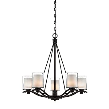 oil rubbed bronze chandelier amazon with shades canopy lighting five light