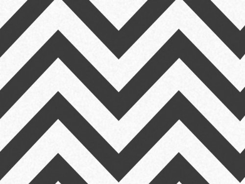 Black and White Chevron Stripe Zig Zag Tissue Paper - 20 Inc