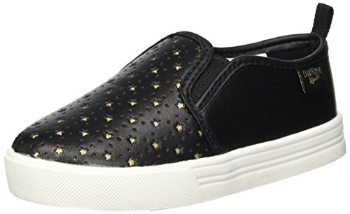 OshKosh B'Gosh Girls' Maeve Sneaker, Black, 7 M US Toddler
