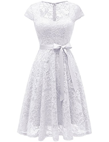 Casual Bridal Dresses - MILANO BRIDE Women's Wedding Dress, Sweetheart Lace Dress Short Casual Cocktail Party Homecoming Dress-XL-Ivory