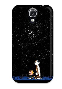 New Style Tpu S4 Protective Case Cover/ Galaxy Case - Calvin And Hobbes Stars