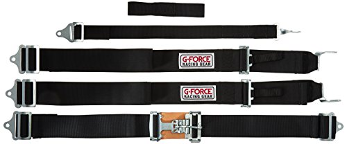 G-Force 6030BK Black 5-Point Pull-Down Latch and Link H-Type Shoulder Harness Set Pull Down Latch