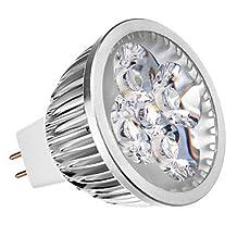 ZQ Mini light bulbs MR16 4W 3000K Warm White Light LED Dimmable Spot Bulb (12V)