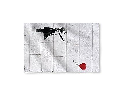 """58 """"x 39"""" Banksy Globo de plástico en forma de corazón diseño de"""