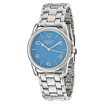 828ae695be0d5 Amazon.com  Coach Womens Sydney Watch (Blue)  Watches