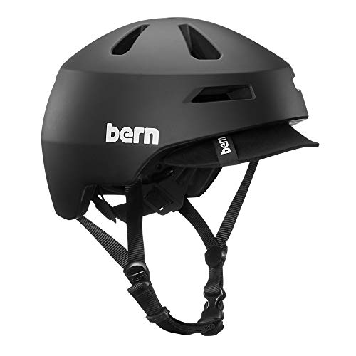 BERN - Brentwood 2.0 Helmet, Matte Black w/Visor, Large