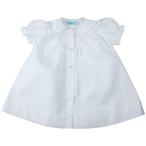 Feltman Brothers Girls White Daygown with Lace-Newborn
