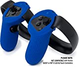 Controller Skin for Oculus Touch by Asterion Products - Premium Gel Shell silicone protection covers featuring Low-Profile Friction Studs (set of 2) (Rift & Controllers NOT included) Blue