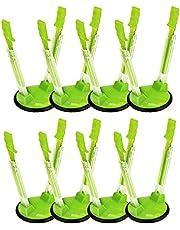 YAMA Racks Bag Holders, 8 Pack Hands-Free Clip Plastic Food Storage Bag Holder(Green)