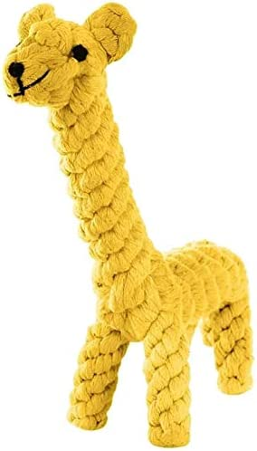 Dog Pet Puppy Chew Toys for Teething Boredom Dogs Rope Ball Knot Training Teeth Dogs Treats Toys for Small Middle Dog (Giraffe)