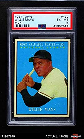 Amazoncom 1961 Topps 482 Most Valuable Player Willie Mays San