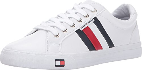 Tommy Hilfiger Women's Lightz Sneaker, White, 7 Medium US