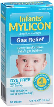 Mylicon Infants' Gas Relief Dye Free Drops - .5 oz, Pack of 6 by Mylicon