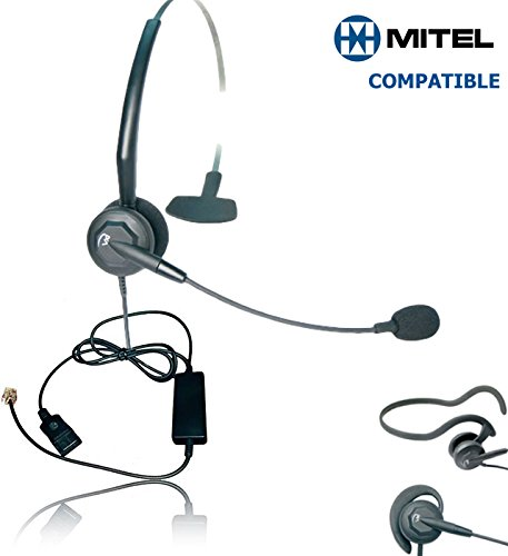 Voip Interface - Mitel Compatible VXi Tria Direct Connect VoIP Headset Bundle | Headset and Telephone Interface cable for Mitel 4000 & 5000 series phones | 5000, 5010, 5020, 5040, 5055, 5140, 5201, 5205, 5207, 5210, 5212, 5215, 5220, 5224, 5230, 5235, 5240, 5250, 5312, 5324, 5330, 5340, 5550