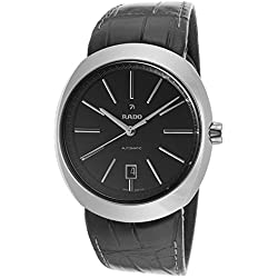 Rado R15760155 mm Automatic Ceramic Case Black Leather Sapphire Crystal Men's Watch