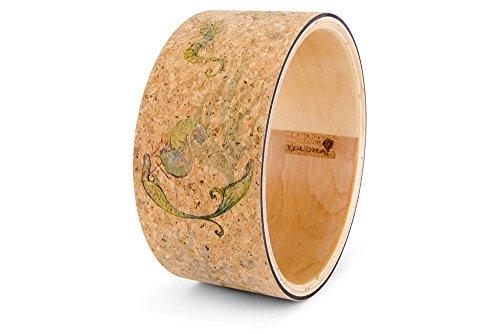 Underwater Vibes Cork Yoga Wheel - Handmade Wooden Yoga Wheel by Yoloha by Yoloha Yoga