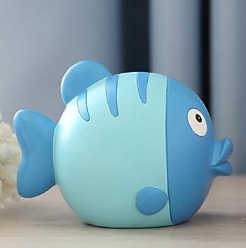 YOIL de Decoración Hucha Cajas de Ahorro Regalo Kiss Fish Piggy Bank Niños Ahorro Banco de Dibujos Animados Cute Creative Gifts (Azul): Amazon.es: Juguetes ...