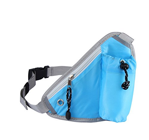 eBuymore Outdoor Sports Running Belt Waist Pack Pouch bag with Water Bottle For iPhone 7 / iPhone 6s Plus / LG G5 / LG V10 / HTC 10 / One A9 (Blue)