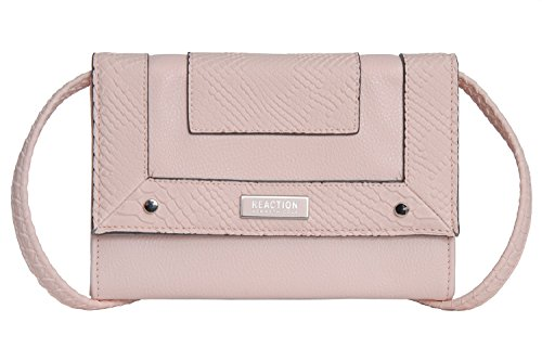 Reaction Kenneth Cole Clara Python Embossed Wallet On A S - Women's - Pink Blush