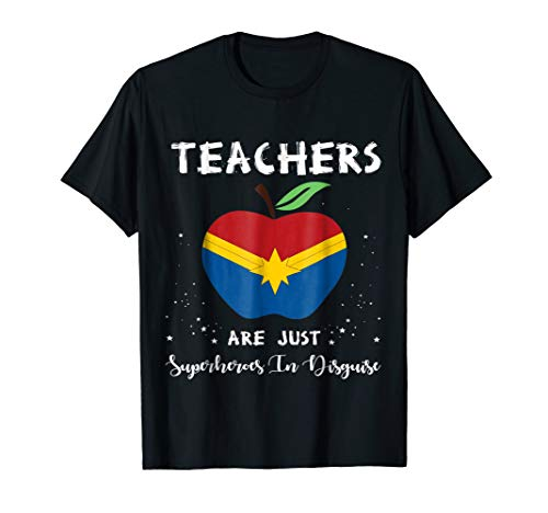 Teachers Are Just Superheroes In Disguise Funny Teacher Tees ()