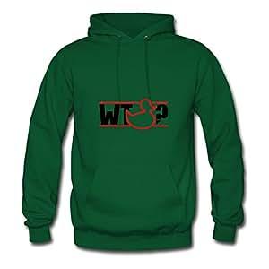 Long-sleeve Fashionable What_the_duck_1f2 Cotton Sweatshirts X-large Women Green