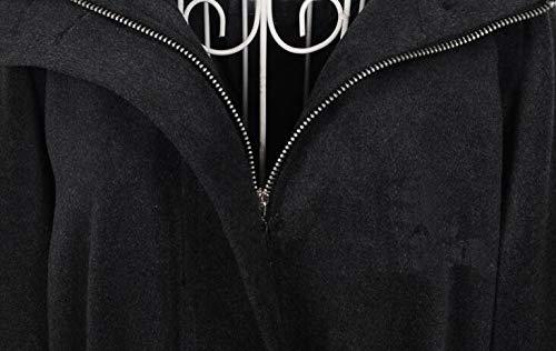 Veste Long De Hoodie Coupe Coupe Col Ceinture Et Foncé1 D'hiver Femme Revers vent Manteau Confortable Costume Lâche Poilu À Blansdi Avoir Gris Slim 2018 Nouvelle D'automne Saison Cardigan 5a7wqx4f