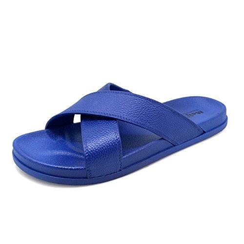 Polliwoo Dames Badslippers Strand Sandalen Kenroll Indoor Flip Flops Platte Anti Slip Slipper Teenslippers Valentijnsdag A2072-deep Blue