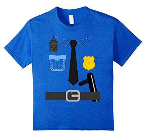 [Kids Police Costume Shirt Halloween 10 Royal Blue] (Orca Costume Amazon)